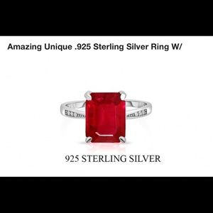 New 925 solitaire ring